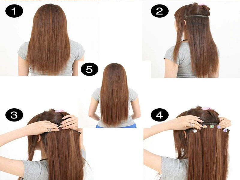 How to put in clip in hair extensions yourself