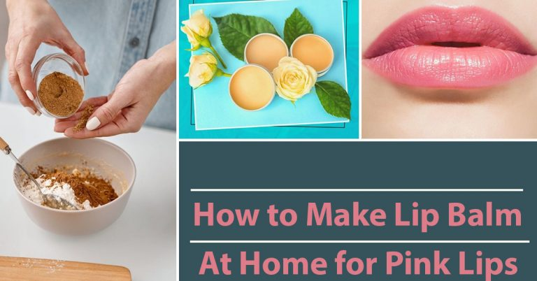How to make lip balm at home for pink lips